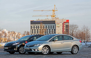 Тест-драйв Honda Civic, Mazda3