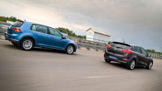 Тест-драйв Volkswagen Golf, Kia cee'd, Toyota Auris