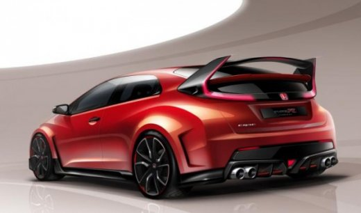 эскиз Honda Civic Type R