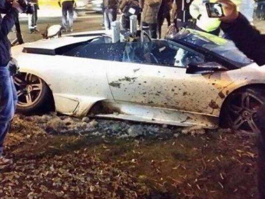 авария Lamborghini Murcielago LP640 Roadster
