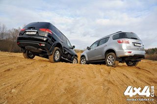 Тест-драйв Mitsubishi Pajero Sport, Chevrolet Trailblazer