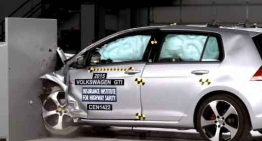 Краш-тест 2015 VW Golf 7 GTI